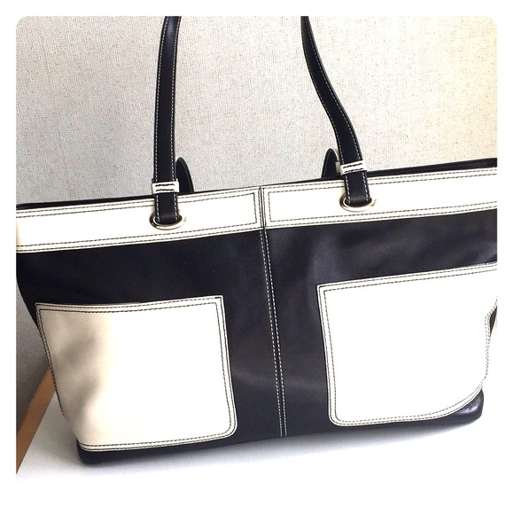 Hype Handbags - Hype Black and White Leather Tote